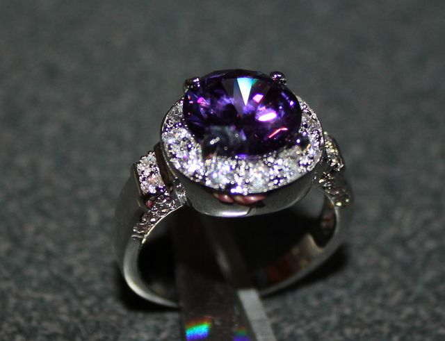 'Gorgeous Amethyst Ring' is going up for auction at  8pm Mon, Dec 10 with a starting bid of $12.