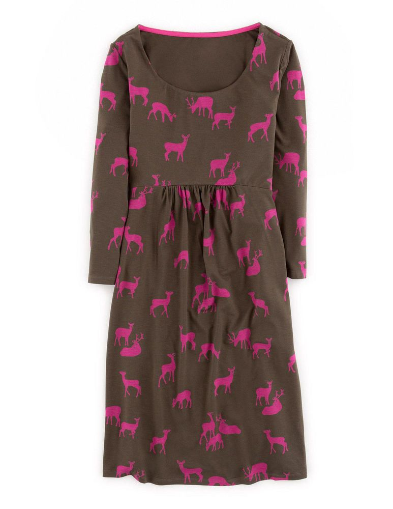 bfe5ef1f6d0 Boden Women's Must Have Tunic Dress Corporal Green Deer Jersey 8 R Pink # Boden #DressTunic #Casual