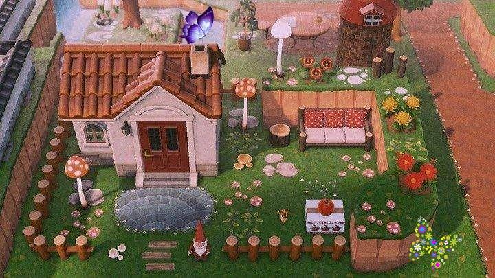 Animal Crossing New Horizons On Instagram House Exterior Inspo Credit To Acnh Letizia Mushroom Design Animal Crossing New Animal Crossing Mushroom Design