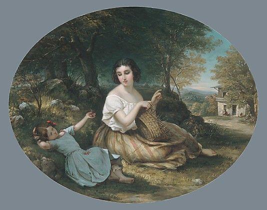 The Basket Maker  Louis Lang, 1853.