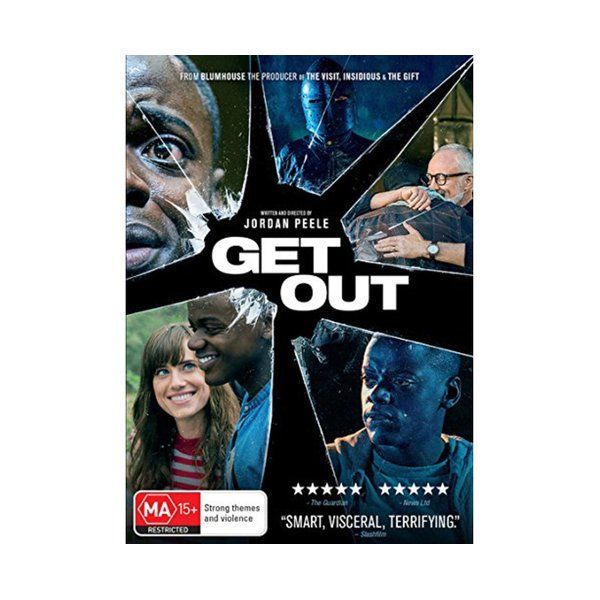 Product: Get Out [DVD] Format: DVD Catalogue No: DH8365 Studio: Universal Certification: MA15+ Release Date: 2017-08-09 Region: Region 4 Duration: 104 minutes Discs: 1 disc(s) Produced (year): 2017 Colour: Colour Extras: Language(s): English|Interactive Menu|Screen ratio 1:2.40|Dolby Digital 5.1