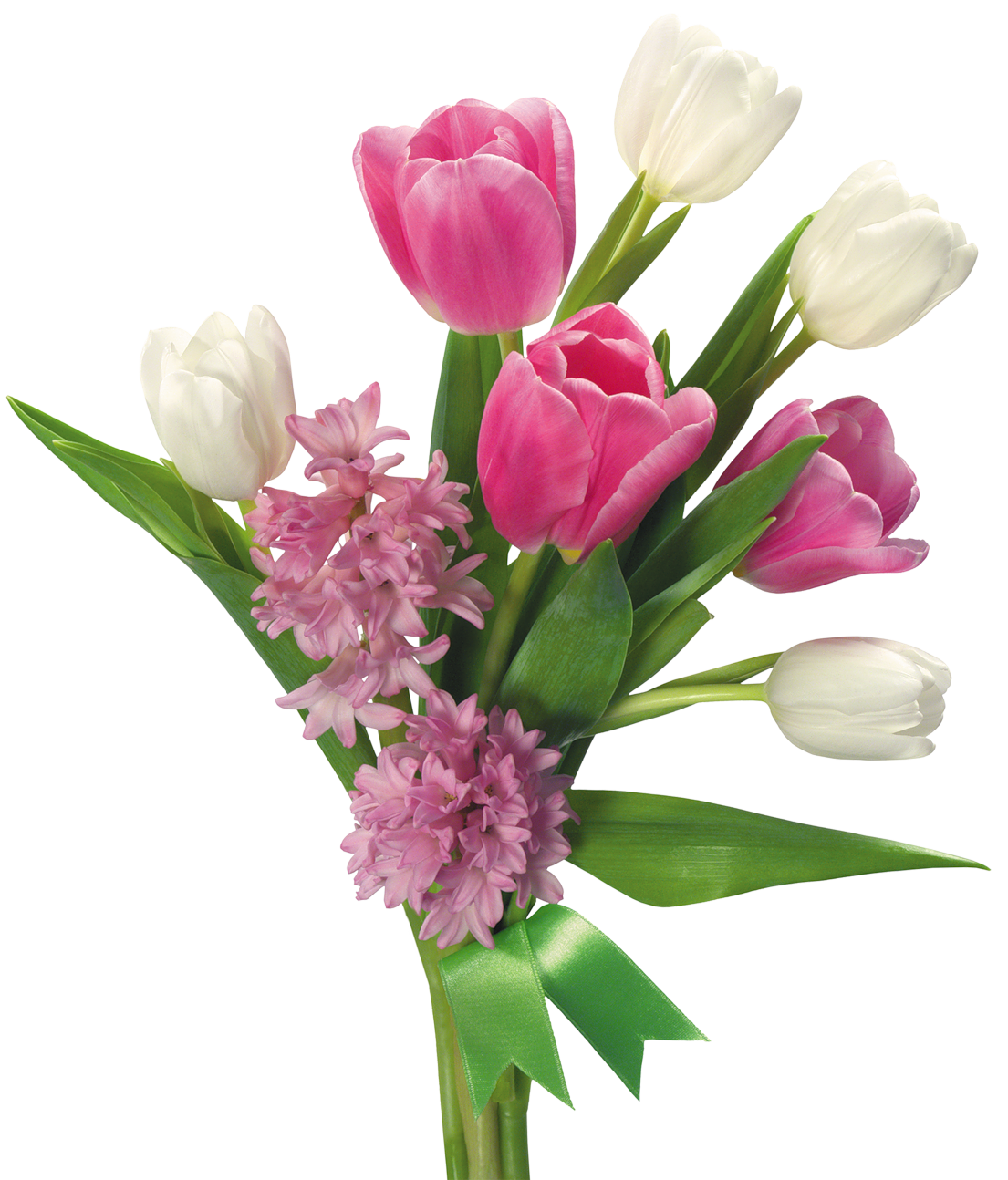 Spring Bouquet of Tulips and Hyacinths PNG Transparent