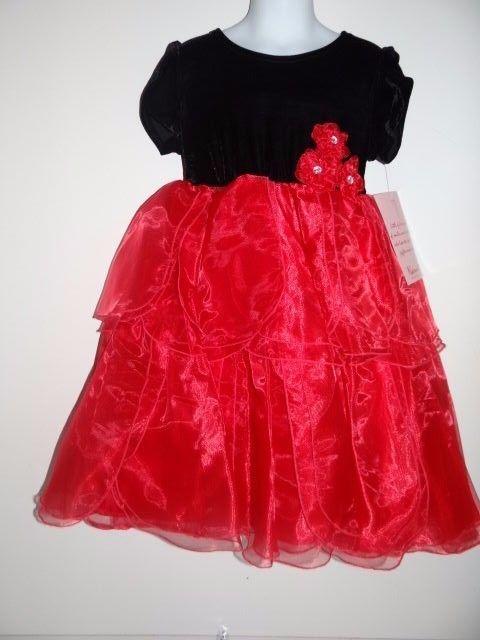 Nannette Girl's Party Graduation Pageant Red/Black Party Dress Sz 5 & 6X  $54 #Nannette #DressyEverydayHoliday