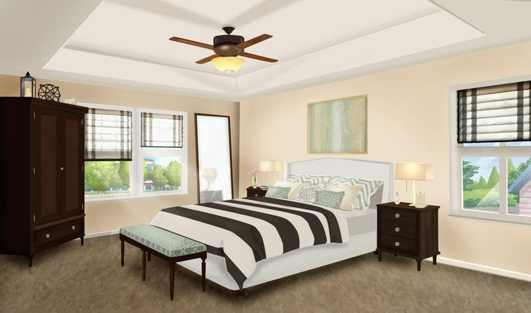 Int Black And White Wood Bedroom Day Bedrooms Episode