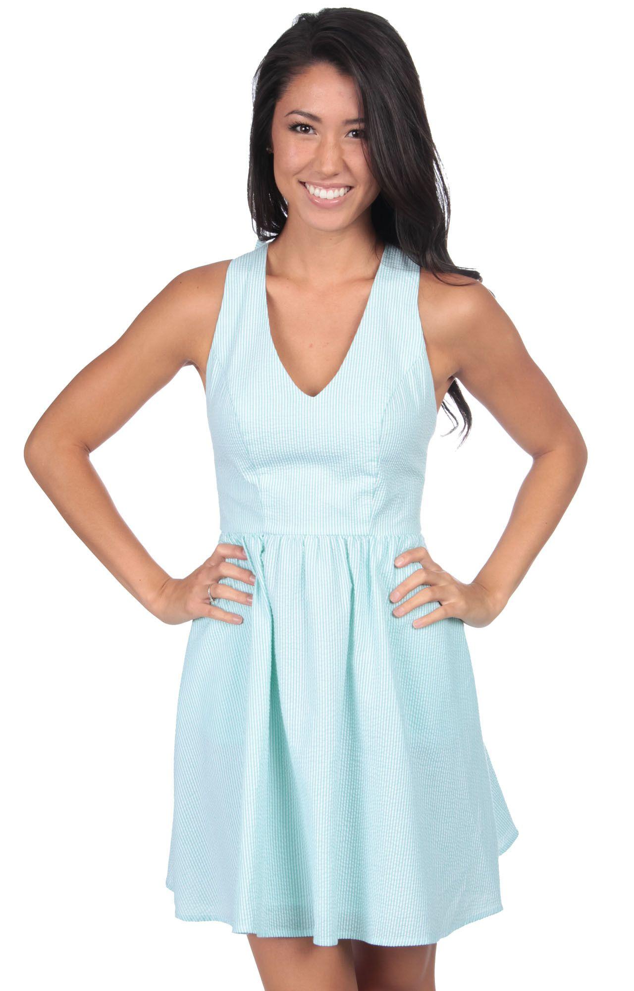 The Augusta Seersucker Dress