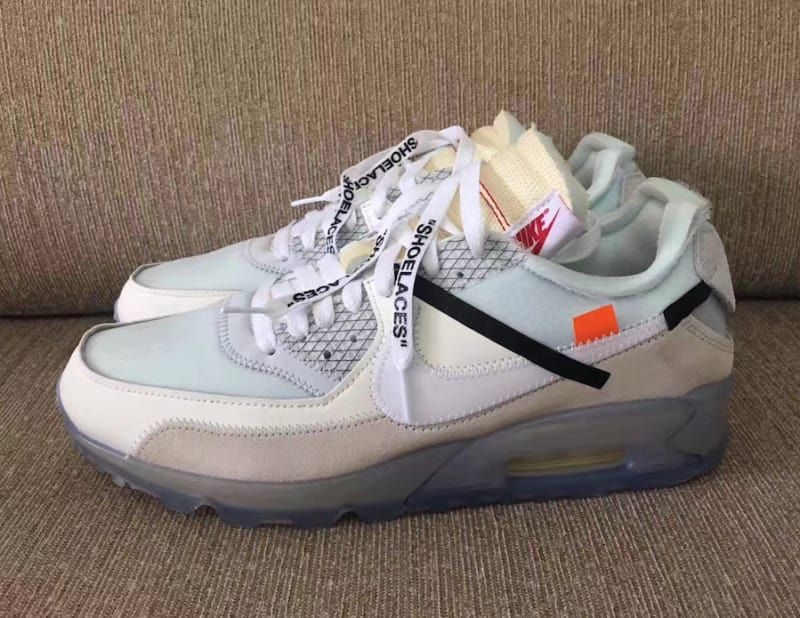 best service 6329b 8ae64 Detailed photos of Virgil Abloh39s Off-White x Nike Air Max 90  collaboration.