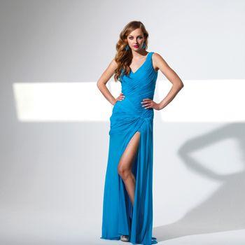 TERANI COUTURE-P1511 Turquoise $ 363.00