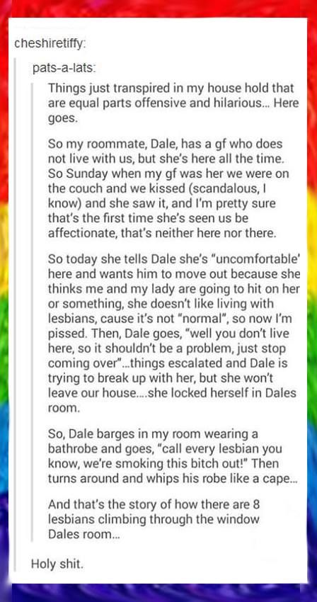 Lesbian roommate stories
