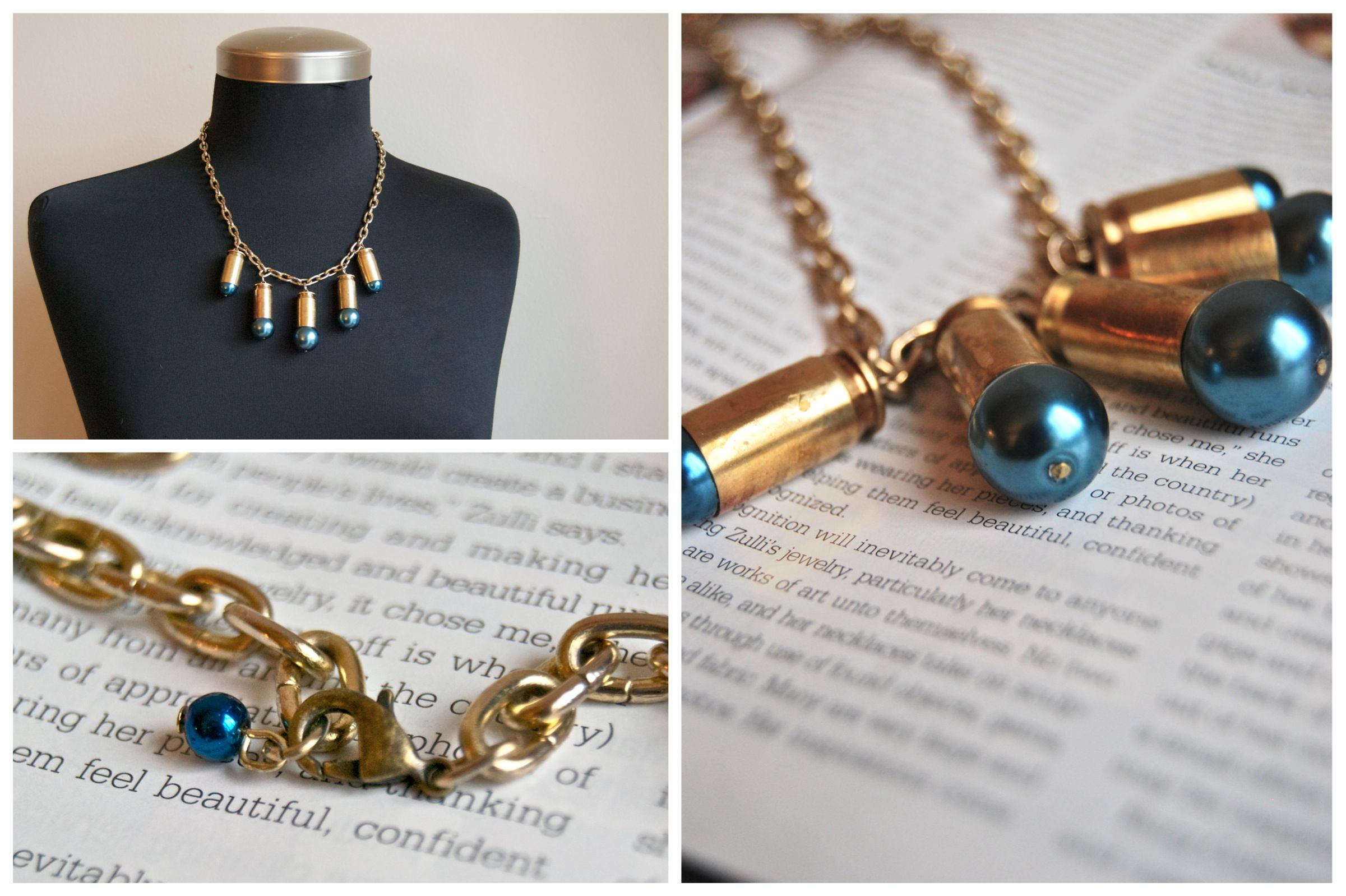 blueberries // bullet shell christmas lights necklace // rustic