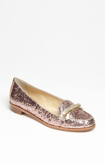 kate spade new york 'cora' flat been lusting after these in pink and gold