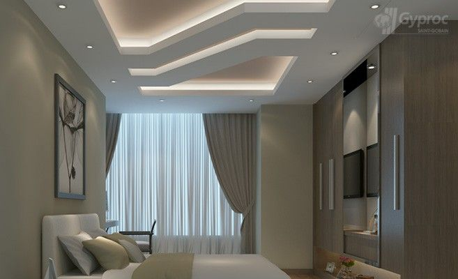 False ceiling designs for bedroom saint gobain gyproc for Bedroom gypsum ceiling designs photos