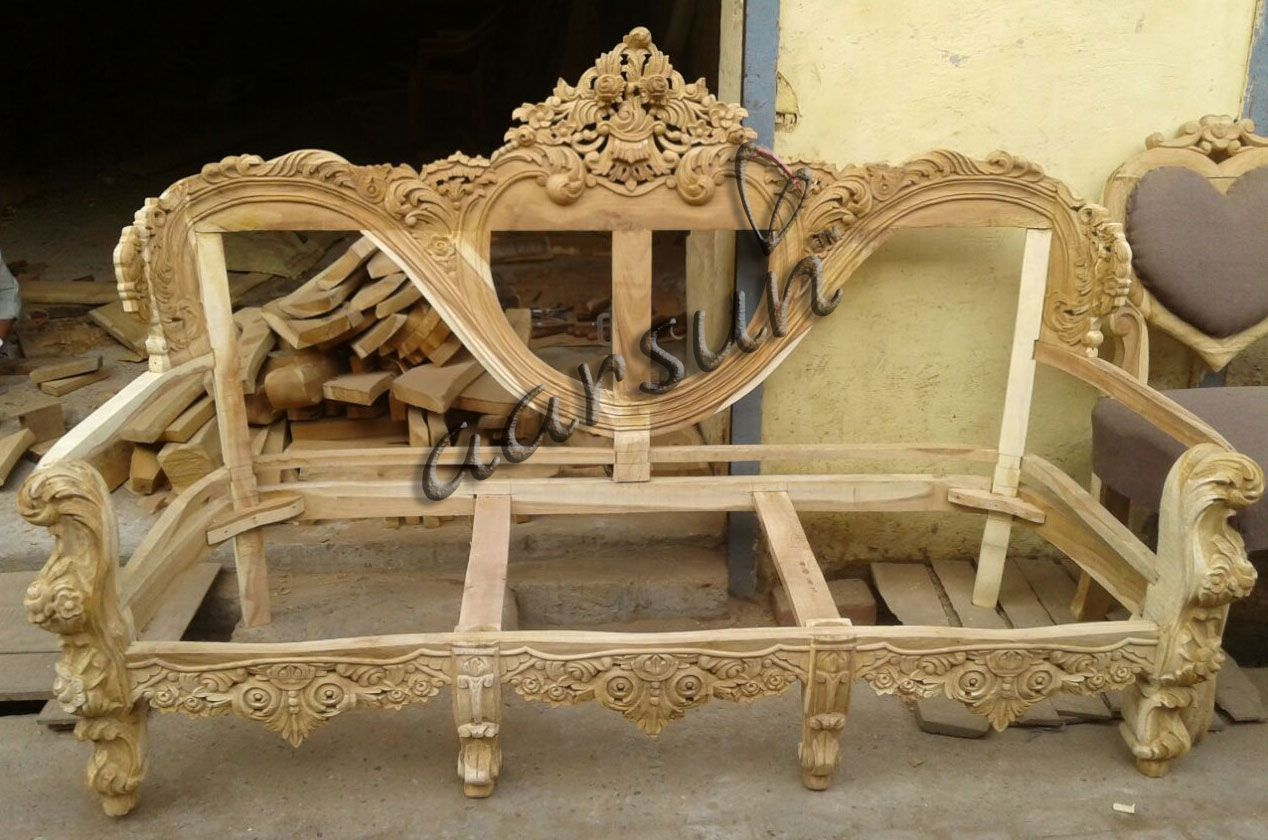Best Quality Wooden Dilwala Classic Sofa Set Sf 0066 Wooden Frame Sofa Wooden Sofa Set Wood Carving Furniture