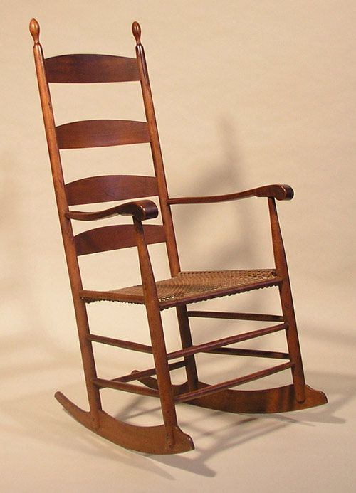 Shaker Ladderback Rocker C 1840 Rocking Chair Shaker Style