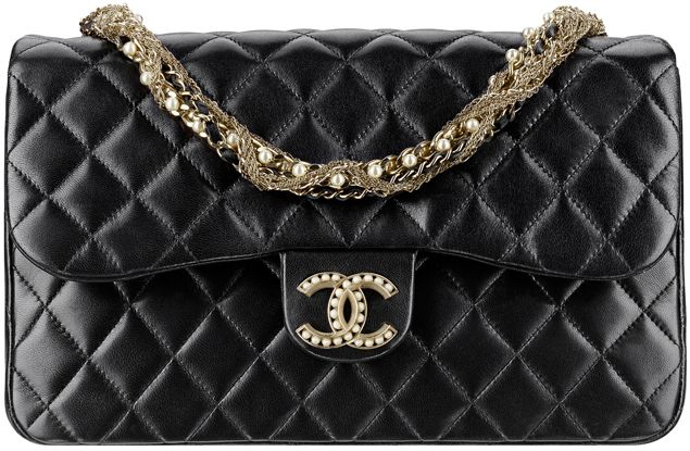 0603c5f3fa Chanel-Classic-Flap-Bag-Embellished-With-A-Pearl-Clasp-And-A-Pearl -Embroidered-Chain