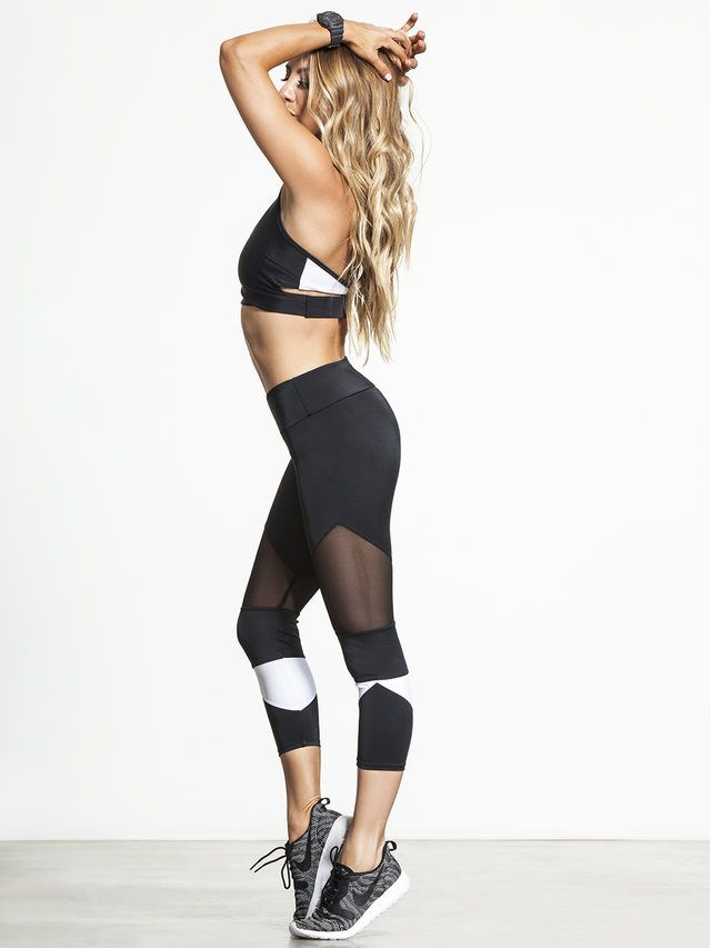 e863fdcfbd7f1b Breathe easy in the Cut Out Capris from Onzie. The multiple strategically  placed mesh panels allow you to keep cool, even during the toughest  workouts, ...