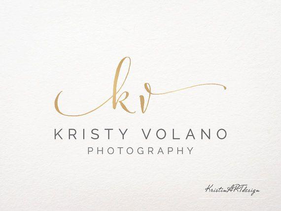 handwritten initials logo premade logo logo design