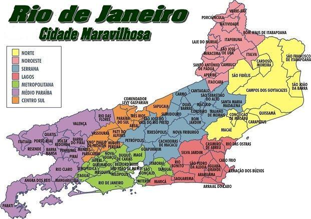 Estado do Rio de Janeiro - Situa-se na porcao leste da regiao Sudoeste, tendo como limites os estados de Minas Gerais, Espirito Santo e Sao Paulo e tambem o oceano Atlantico - Pesquisa Google