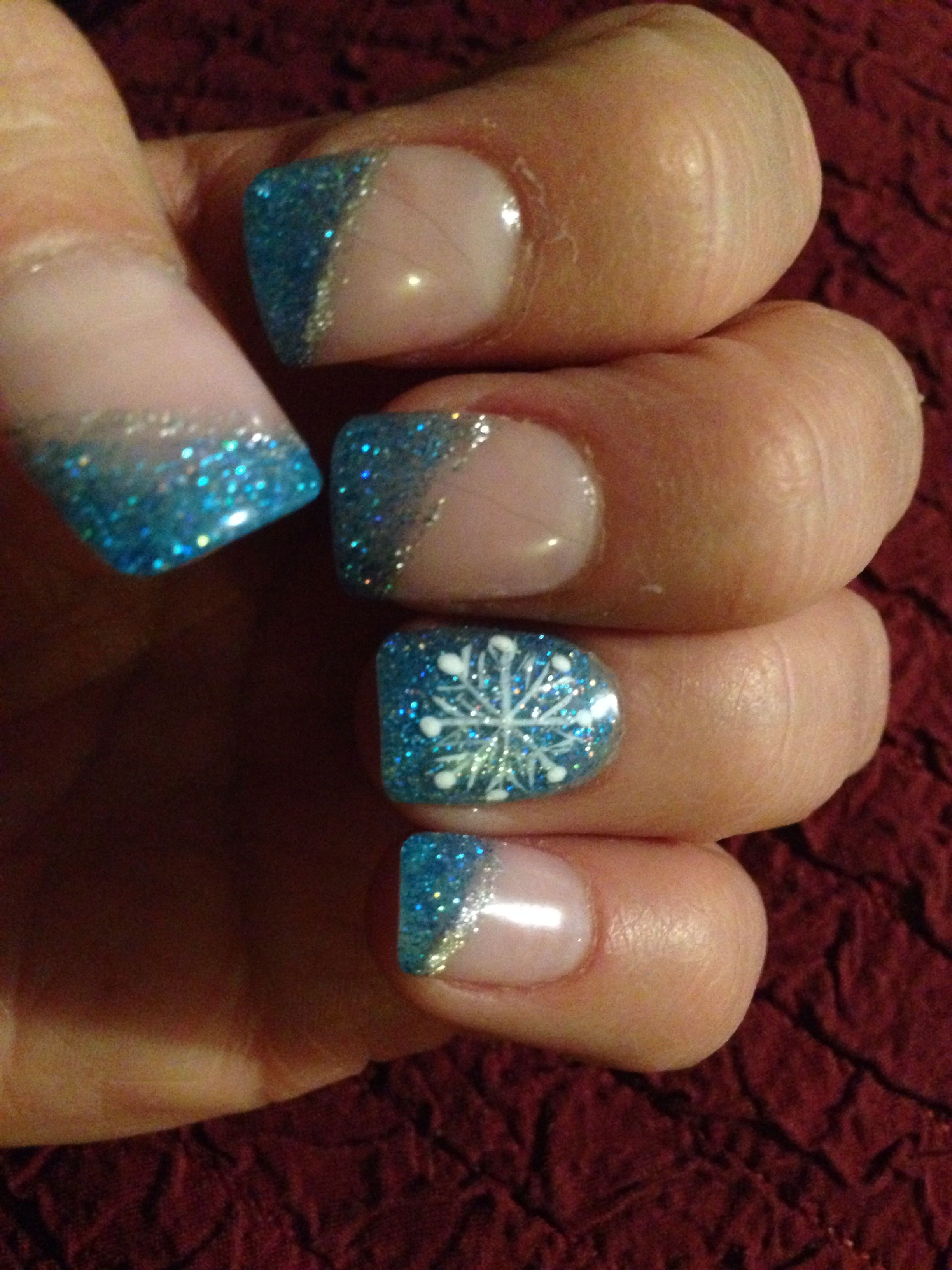 my winter nails look for Breckenridge