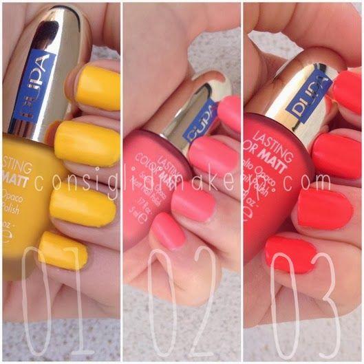 Consigli di Makeup: NOTD: Lasting Color MATT Navy Chic 01-02-03 - Pupa...