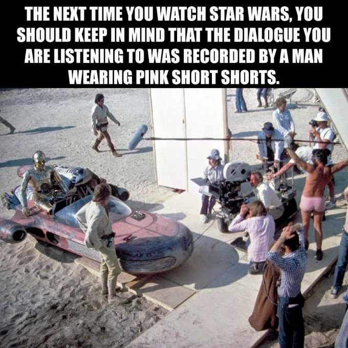 A long time ago, on a film set far far away...