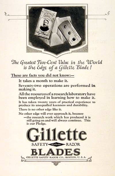 Dating gillette razors and blades #11