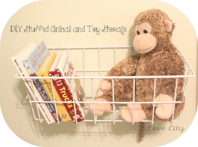 My Thrifty Stuffed Animal Storage Idea Stuffed Animal Storage Stuffed Animal Storage Diy Toy Storage