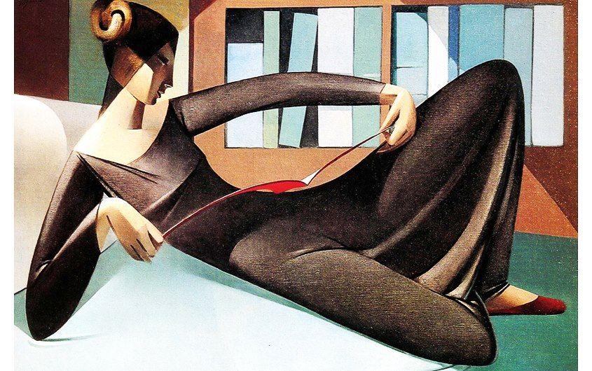 """""""Reading Woman"""" di Armando Barrios (Venezuela 1920 - 1999)."""