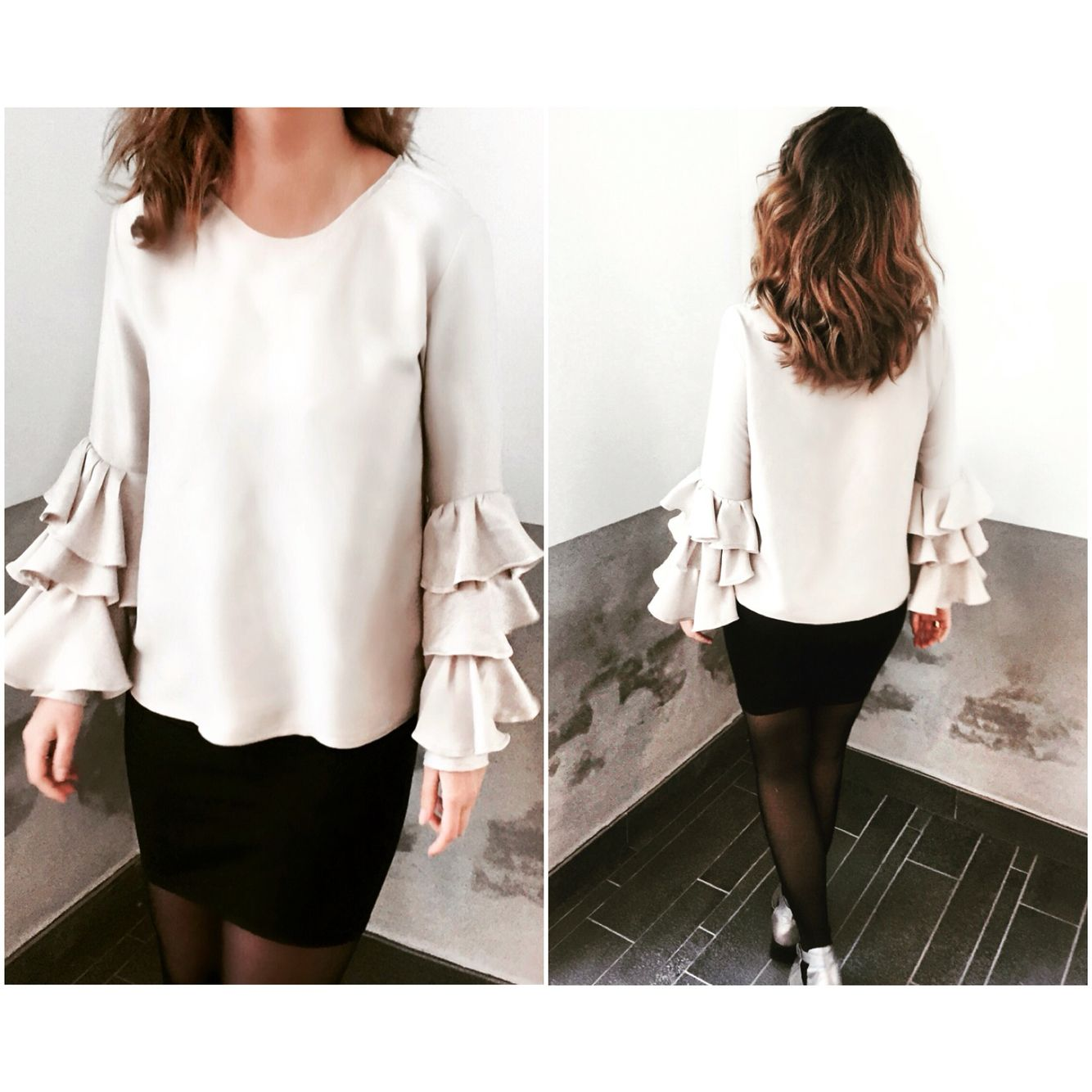 #fashion #dress #shirt #beige #sand #sofiekimman