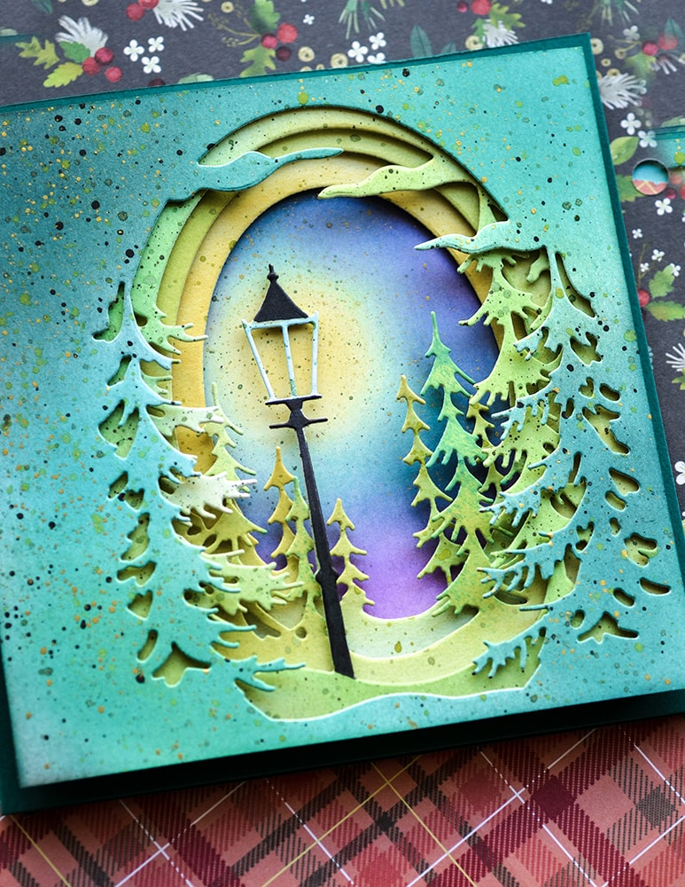 Memory Box - Die - Evergreen Sky Collage in 2020 | Tree collage, Memory box,  Memory box dies