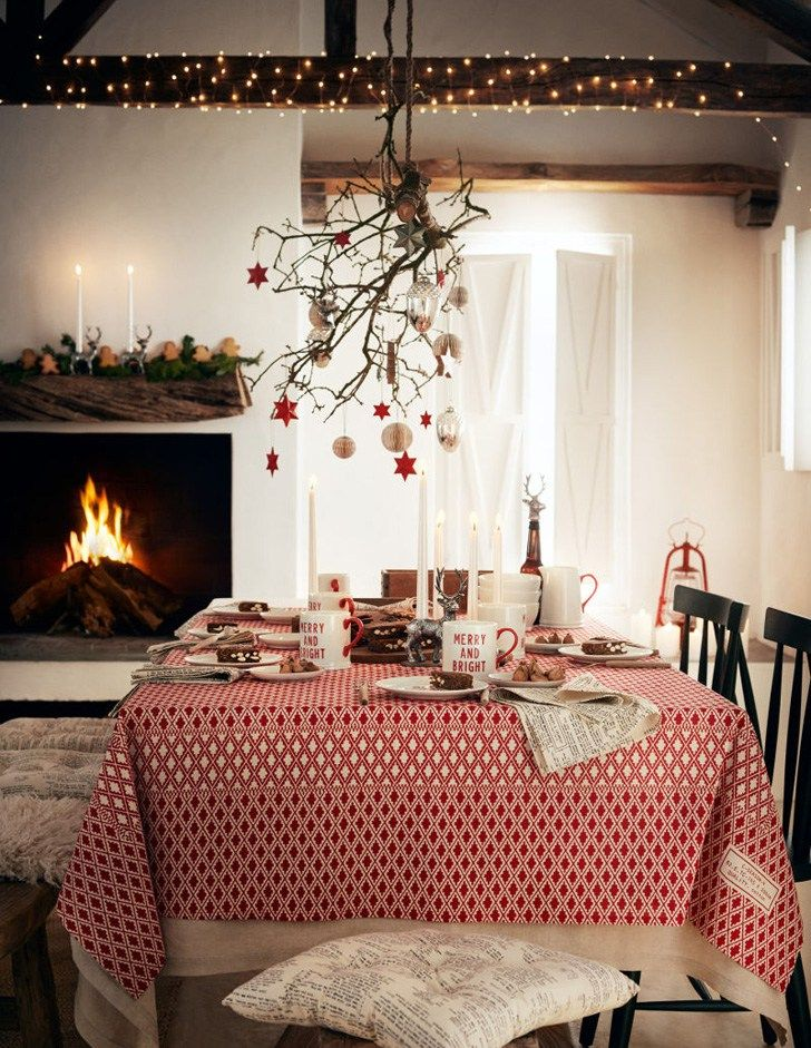 HM Home Christmas Collection 2017 Fireplace Dining Room