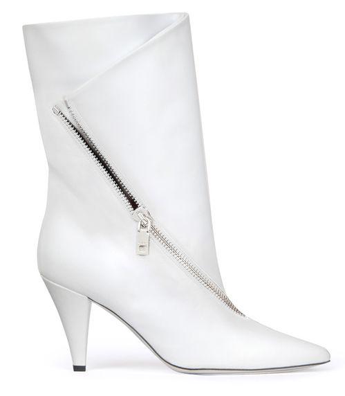 7afdf8127dee99 Givenchy Bottines zippées en cuir blanc   Fayshon   Autumn fashion ...