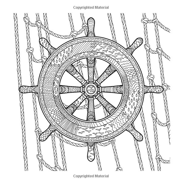 Nautical Coloring Pages For Adults : Nautical ocean coloring books in all departments adult