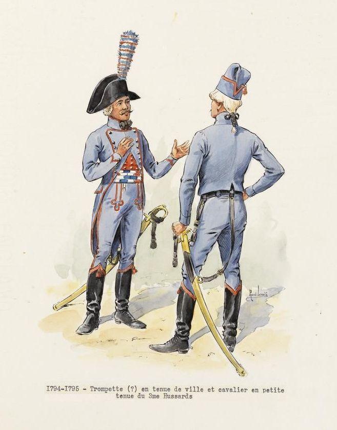 french 3rd hussars trumpeter tenue de ville hussar petite tenue 1794 95 french. Black Bedroom Furniture Sets. Home Design Ideas