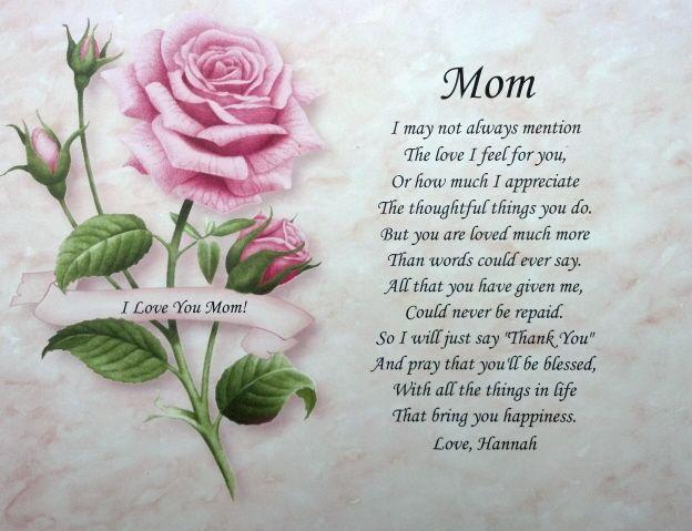 Birthday Poems For Moms In Heaven
