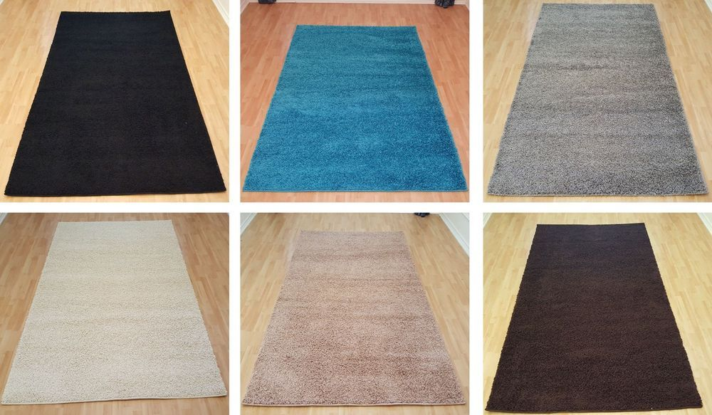 Details About Shaggy Area Rugs Solid Colors 5x7 And 8x10