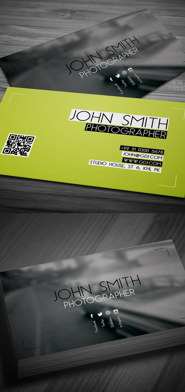 Free Photographer Business Card PSD Template | Creative | Pinterest ...