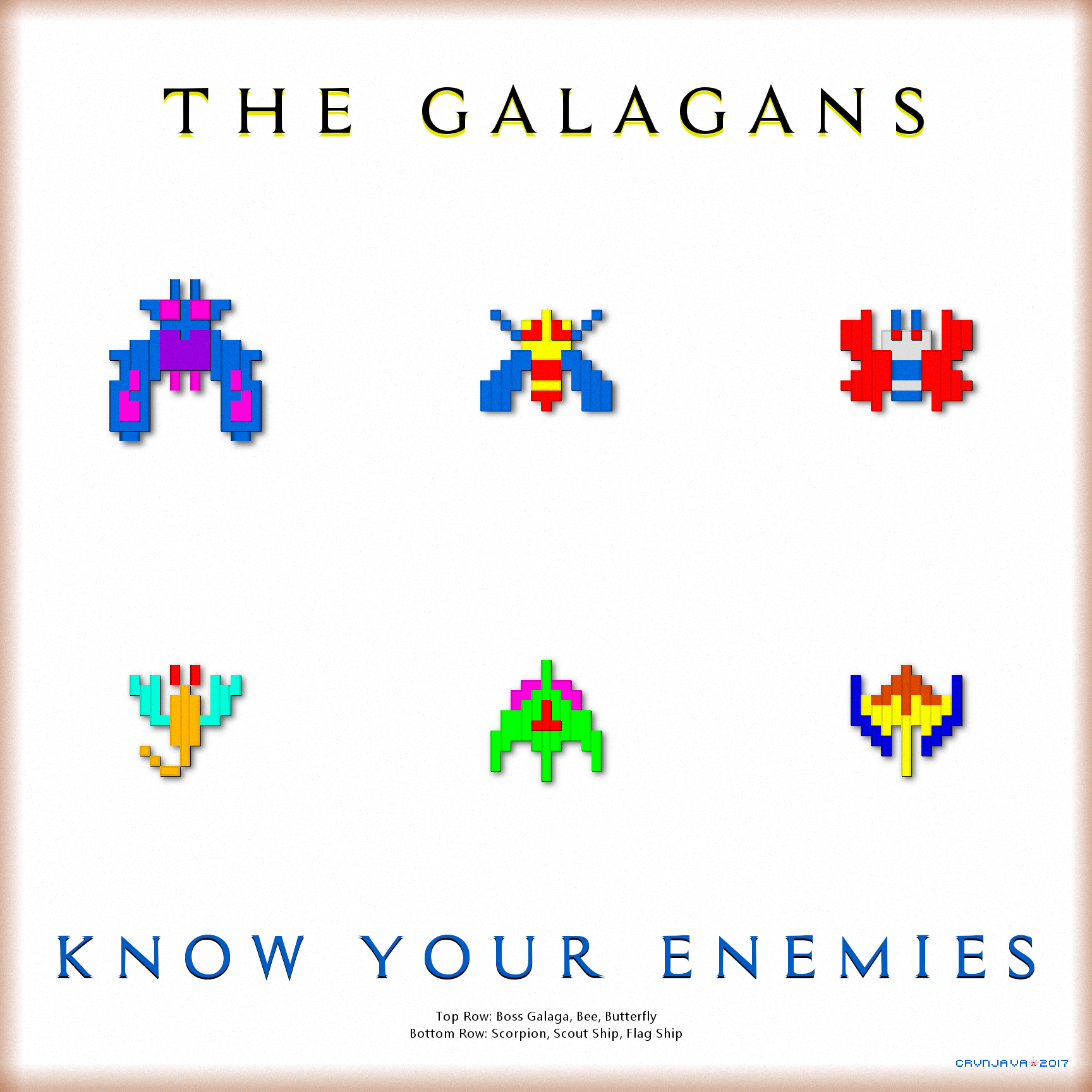 Galaga Know Your Enemies Wallpaper