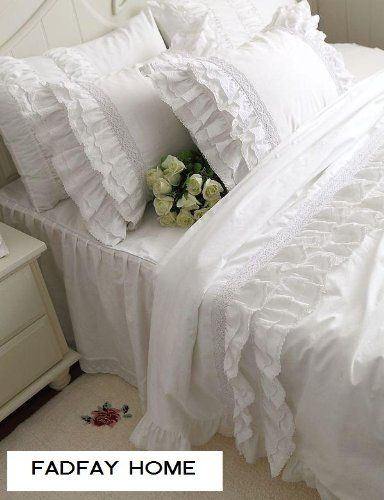Fadfay Home Textile Hight Quality 100 Cotton White Ruffle Https