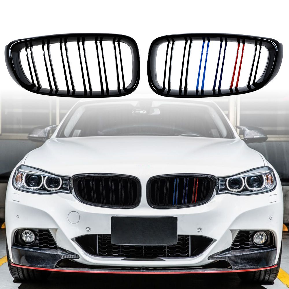 Glossy Black MColor Front Kidney Grille Grill For 2014
