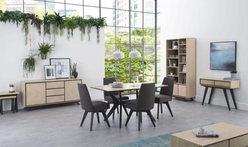 Bentley Designs Brunel Swivel Dining Chair  Grey Bonded Leather Best Leather Swivel Dining Room Chairs Inspiration Design