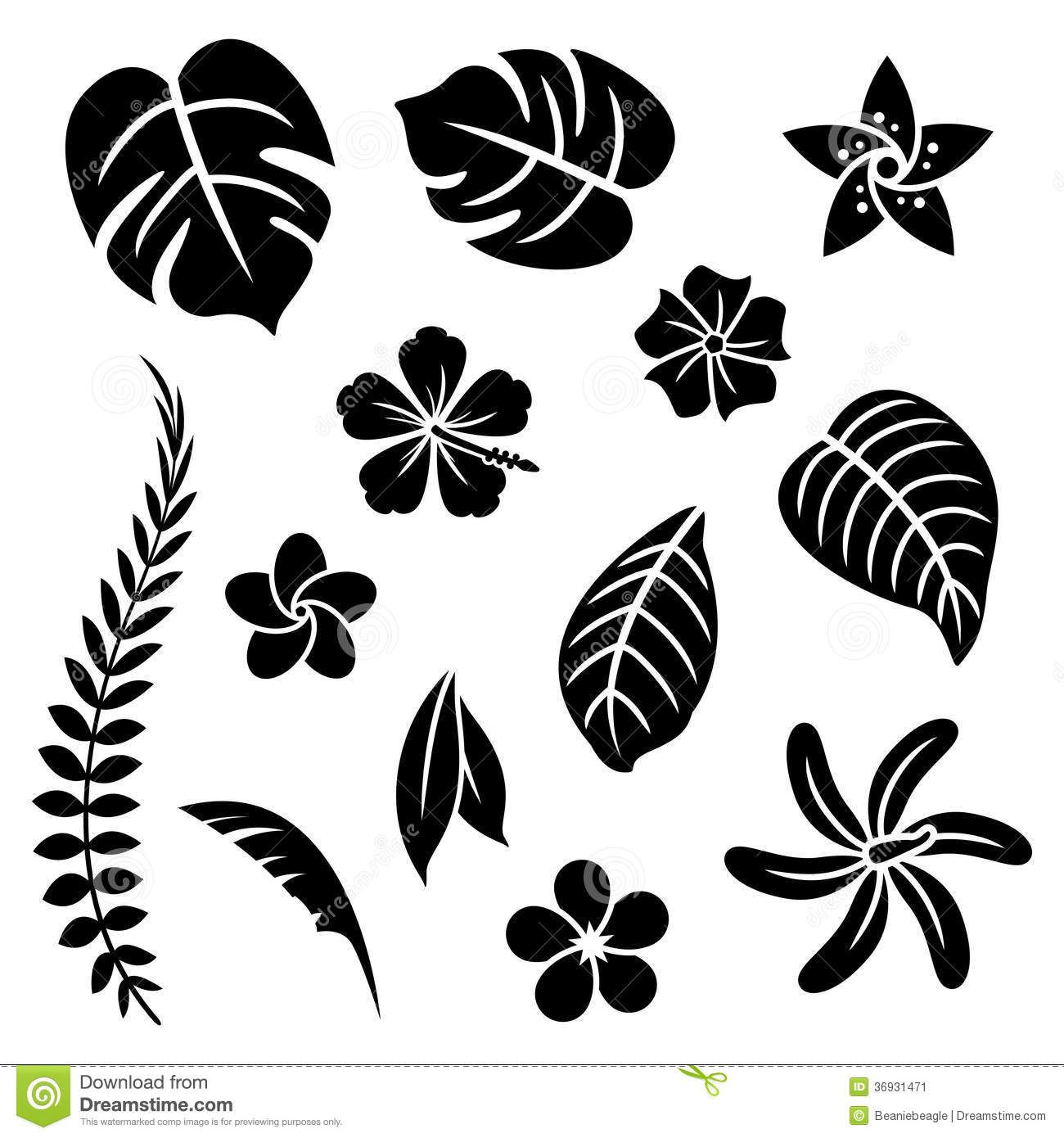 Black Flower And Bud Pattern Royalty Free Stock Photos: Black Silhouette Of Rose. Vector Illustration. Royalty