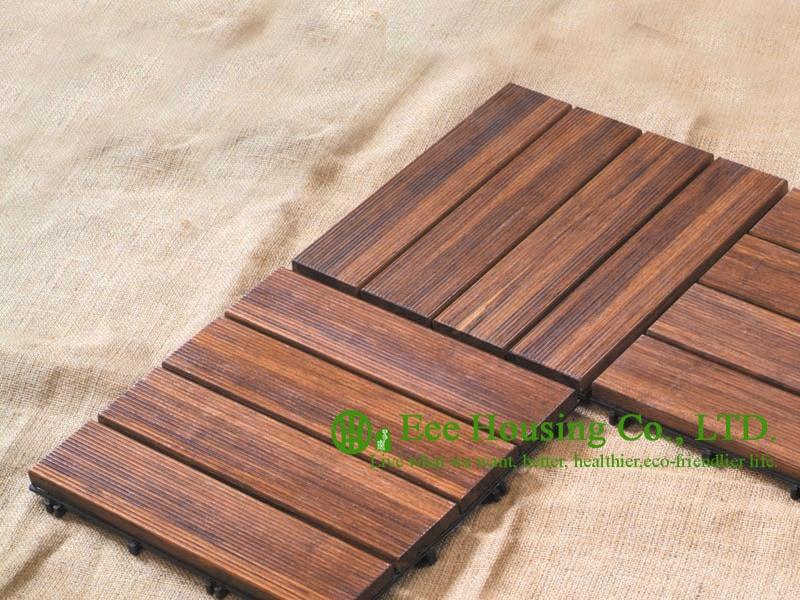 690000 Know More Outdoor Bamboo Floor Tiles 300x300x25mm
