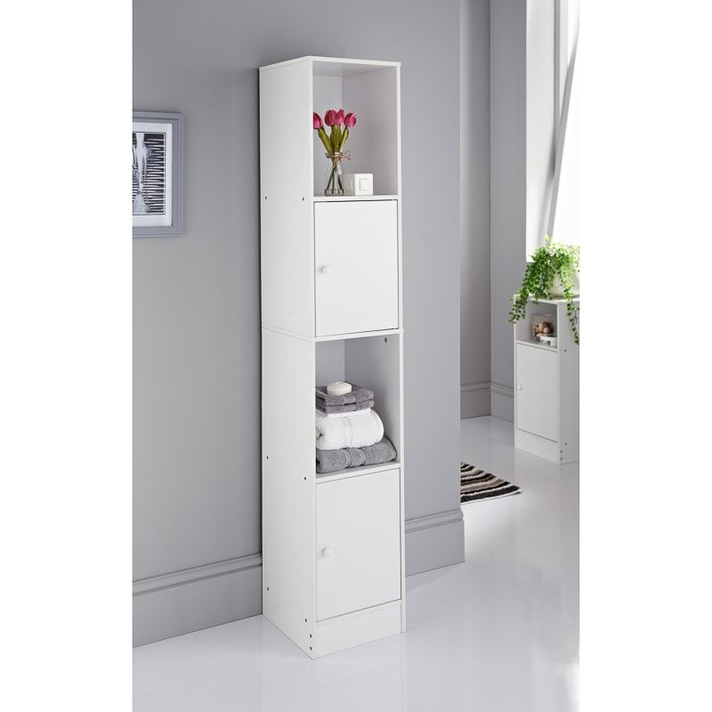 Spaceways Tall Cupboard In 2020 Furniture Cheap Bathrooms Bathroom Furniture