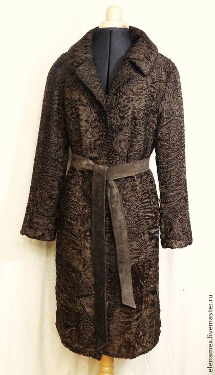 71f7fe3180a Пальто из каракульчи swakara - коричневый