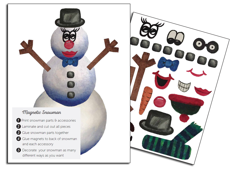 Snowman Magnet  Holiday Laminating Ideas    Snowman