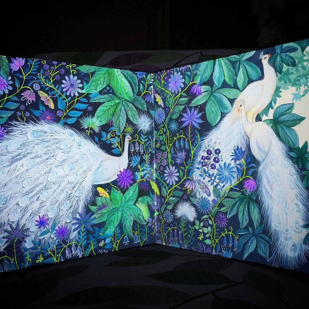 Peacock final look. #coloring_secrets #秘密花园 #JardimSecretoTop ...