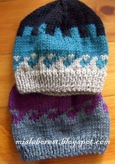 ¿Qué os parece este gorrito que hice ayer . Está realizado de dos colores  de lana en punto jaquard. El motivo es bastante fácil para los qu. f05fdb2f717