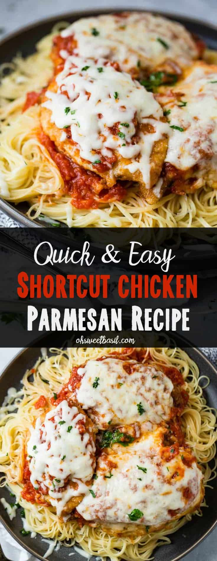 Quick and Easy Shortcut Chicken Parmesan Recipe - Oh Sweet Basil
