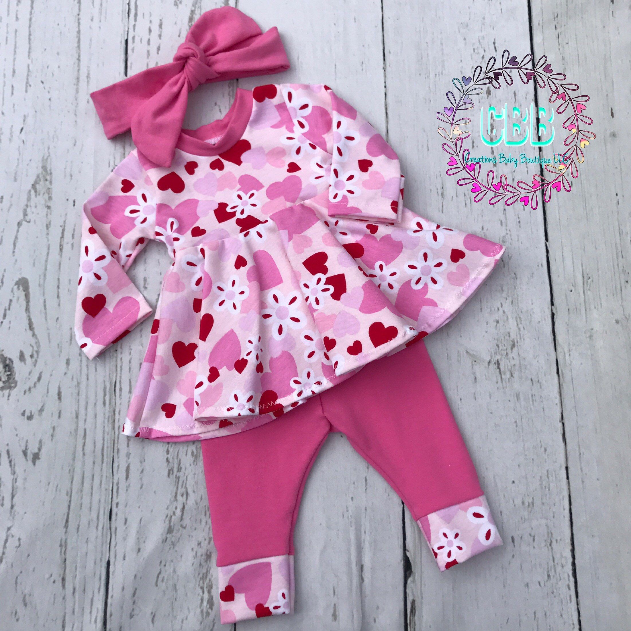 Baby girl Valentine s Day outfit Baby girl clothes Baby girl