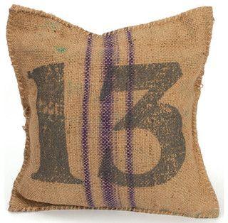 Burlap pillow $96 on Houzz